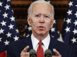 Former Vice President Joe Biden speaks in Philadelphia.